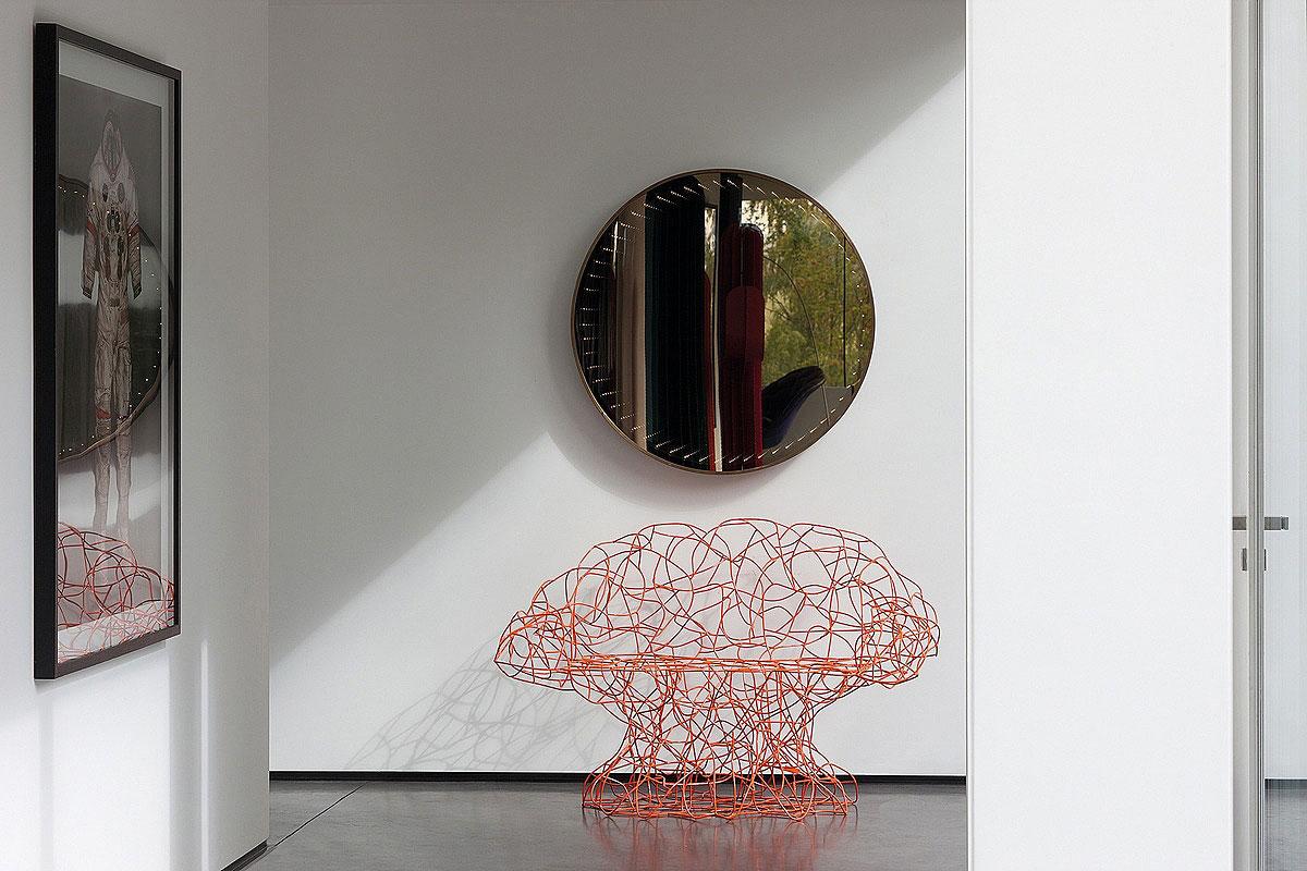 Mirror, Art, Sophisticated Glass Home in Belgium