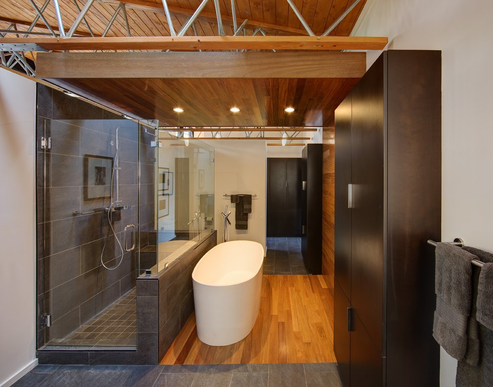 Modern Bathroom, Glass Screen, Home Renovation in Madison, Wisconsin