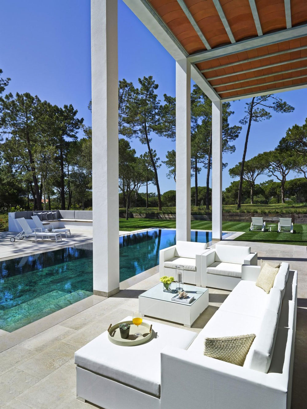 Outdoor Furniture, Modern Home in Quinta do Lago, Portugal