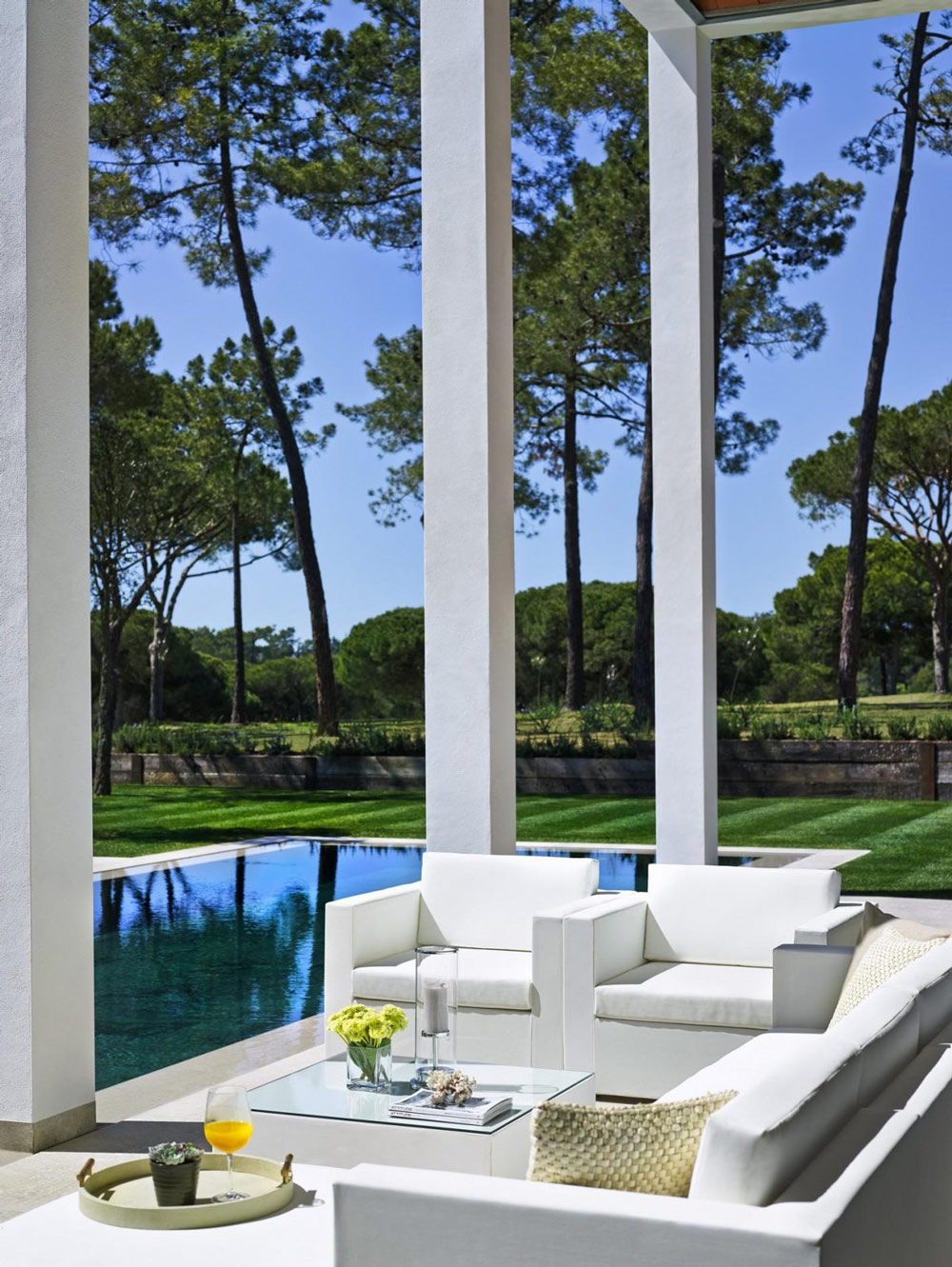 Outdoor Living, Modern Home in Quinta do Lago, Portugal
