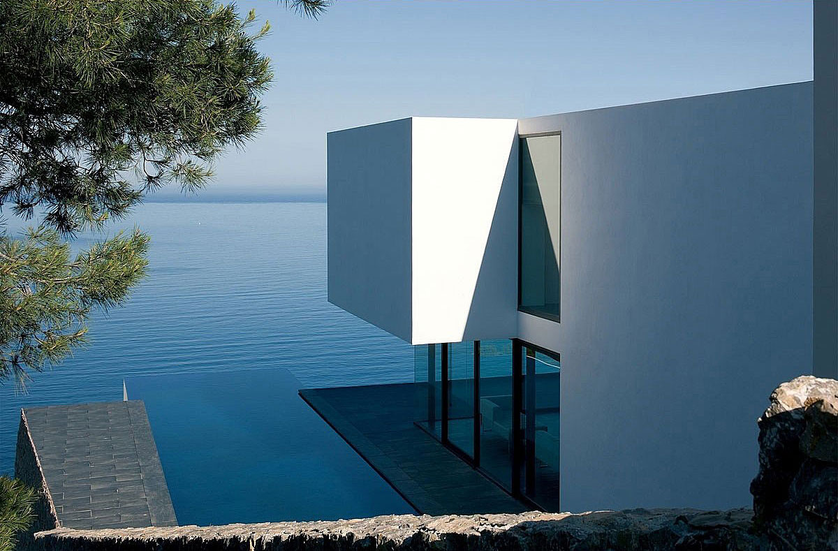 Outdoor Swimming Pool, Terrace, Stunning Clifftop Home in Ibiza, Spain