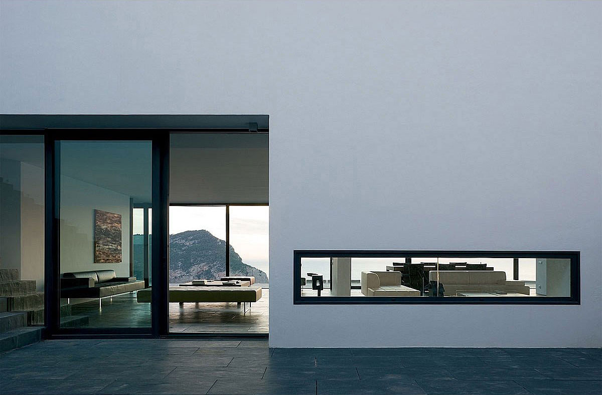 Patio Doors, Terrace, Stunning Clifftop Home in Ibiza, Spain
