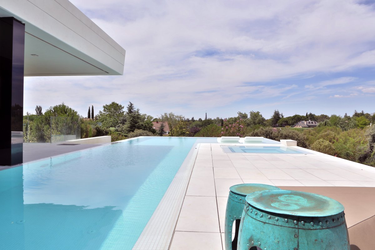 Pool, Terrace, Views, Futuristic Home in Madrid, Spain