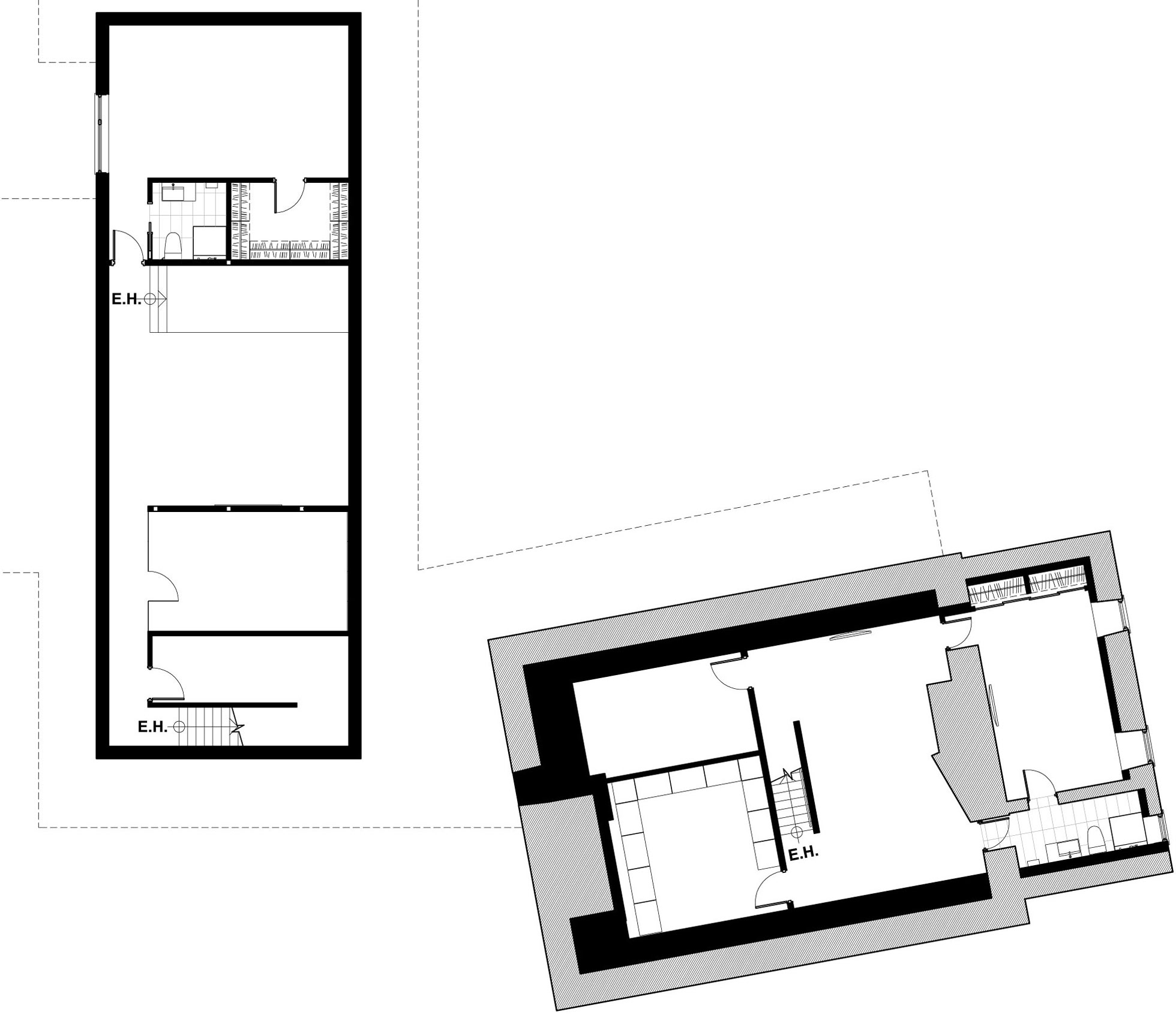 Second Floor Plan, Renovation and Addition in Dorval, Canada