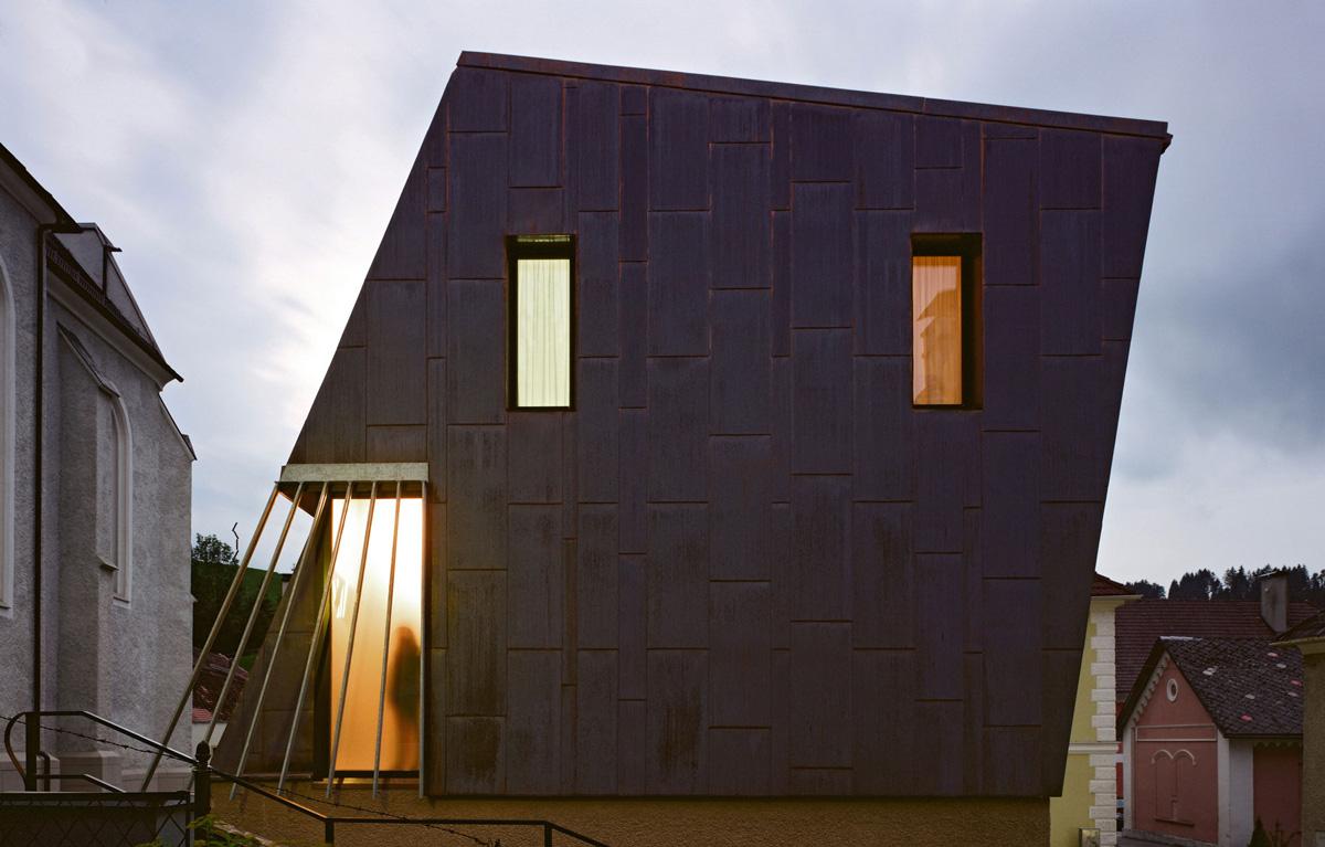 Side Facade, Apartment House in Ybbsitz, Austria