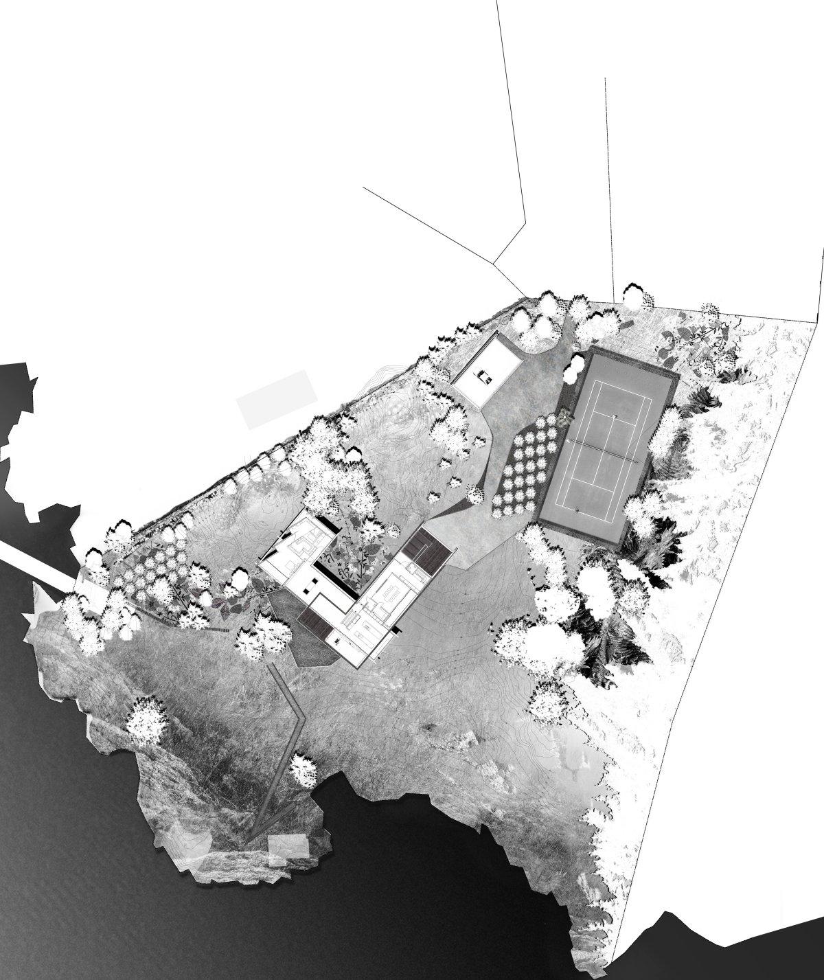Site Plan, Oceanfront Home in British Columbia, Canada