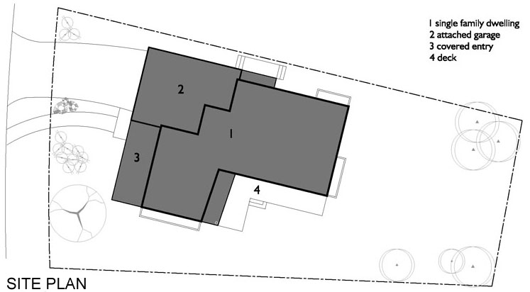 Site Plan, Contemporary Home in Edmonton, Canada