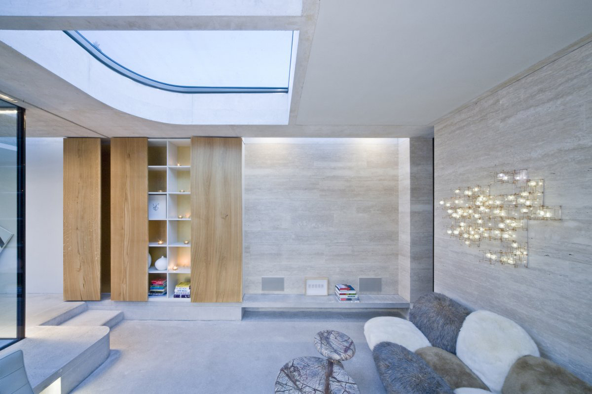 Sofa, Lighting, Shelves, Extension and Renovation in Eindhoven, The Netherlands