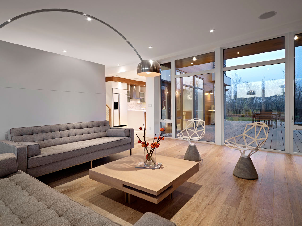 Sofas, Lighting, Coffee Table, Contemporary Home in Edmonton, Canada