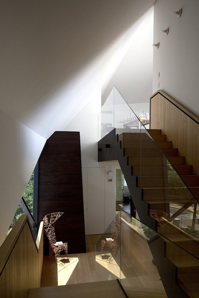 Stairs, Lakeside Family Home in Singapore