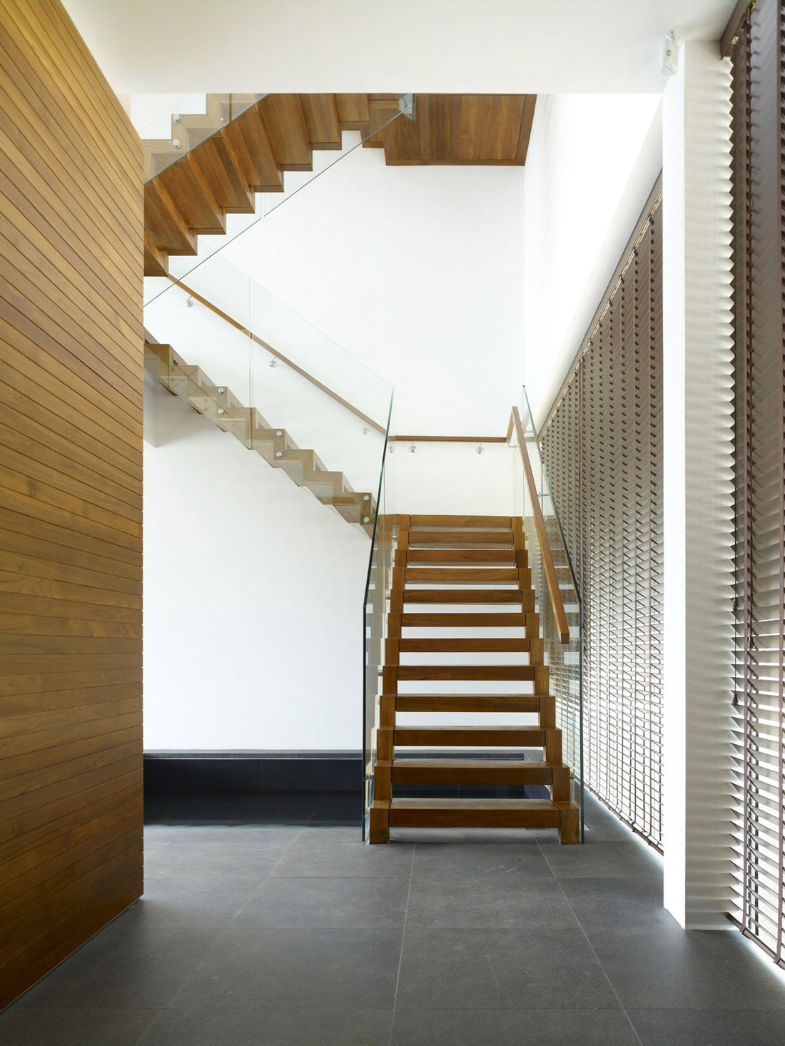 Stairs, Minimalist Contemporary Home in Singapore