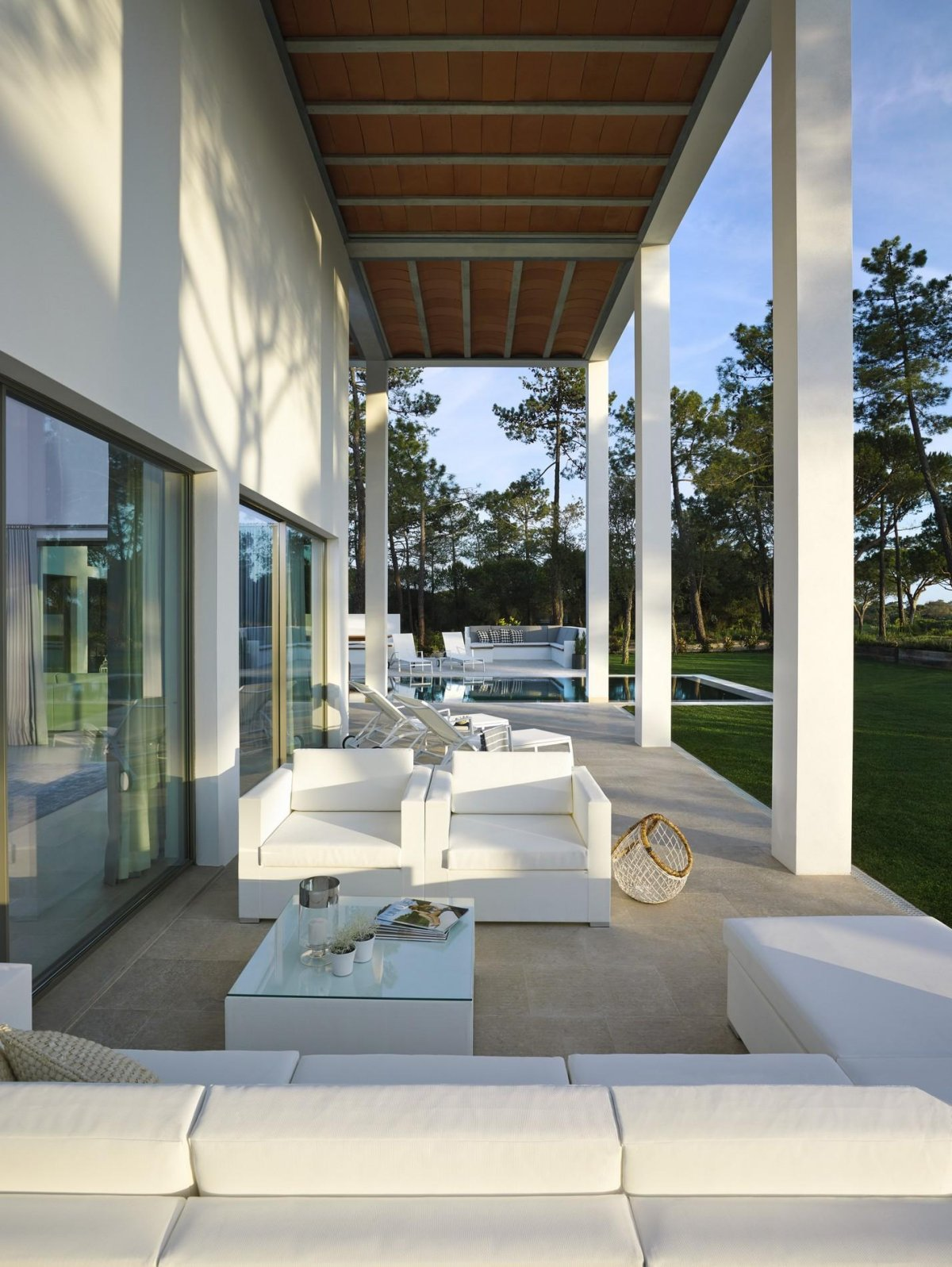 Terrace Furniture, Modern Home in Quinta do Lago, Portugal