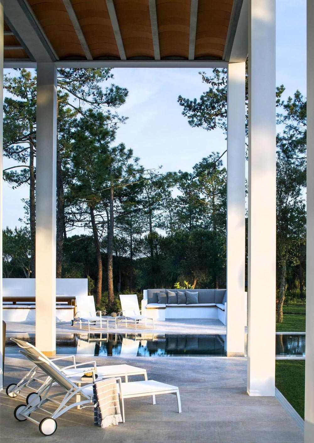 Terrace, Pool, Modern Home in Quinta do Lago, Portugal