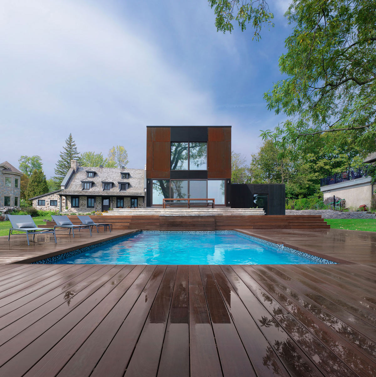 Pool, Terrace, Renovation and Addition in Dorval, Canada