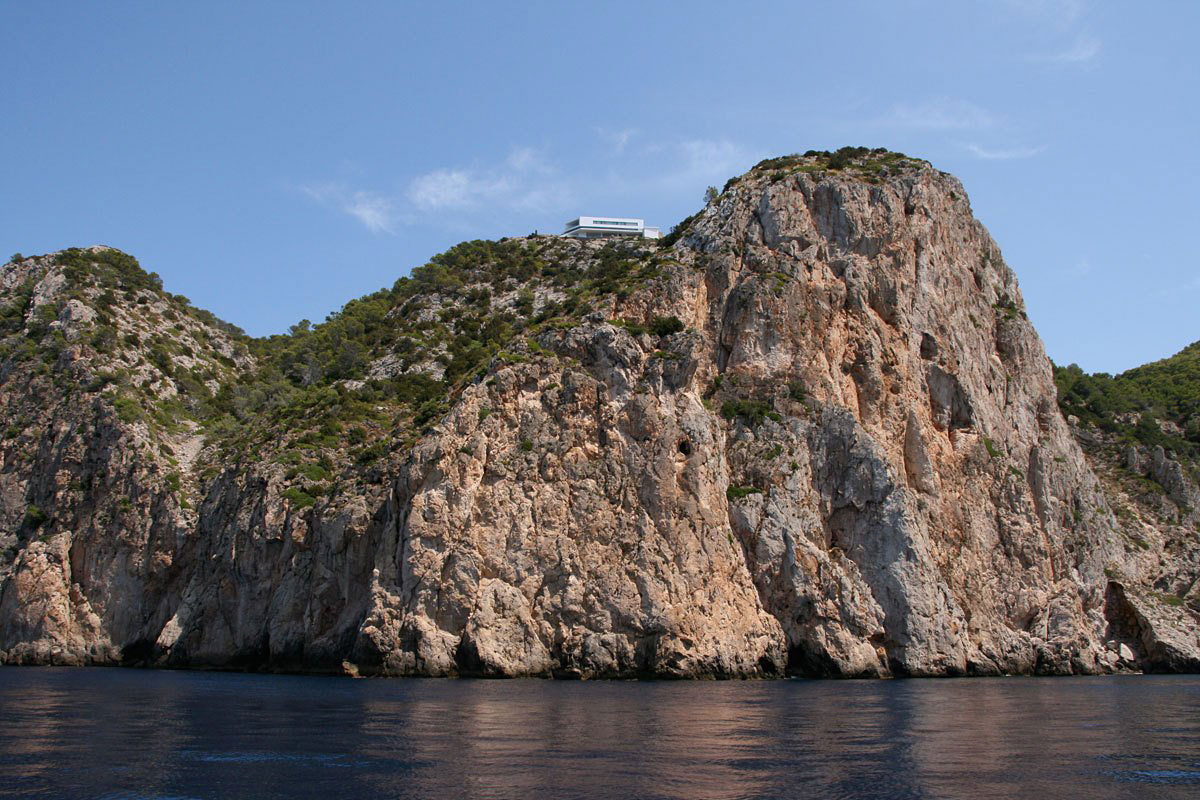 View from the water, Stunning Clifftop Home in Ibiza, Spain