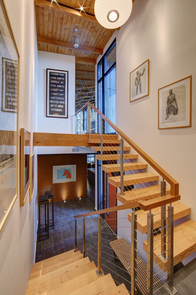 Wood & Metal Stairs, Art, Home Renovation in Madison, Wisconsin