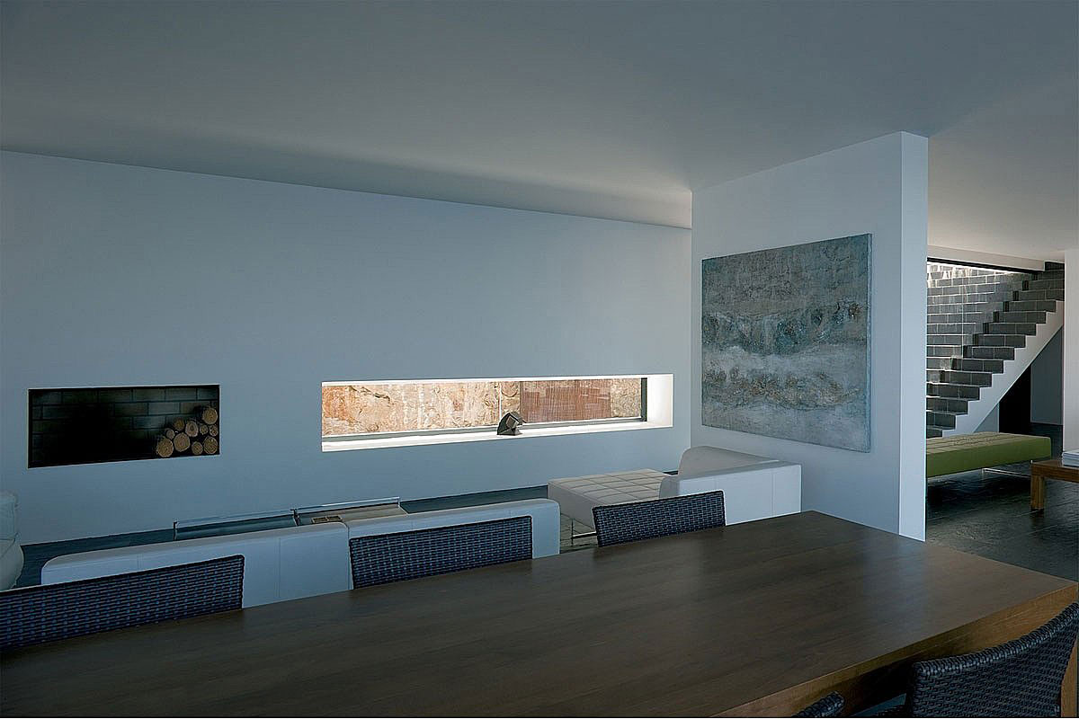 Wooden Dining Table, Stunning Clifftop Home in Ibiza, Spain