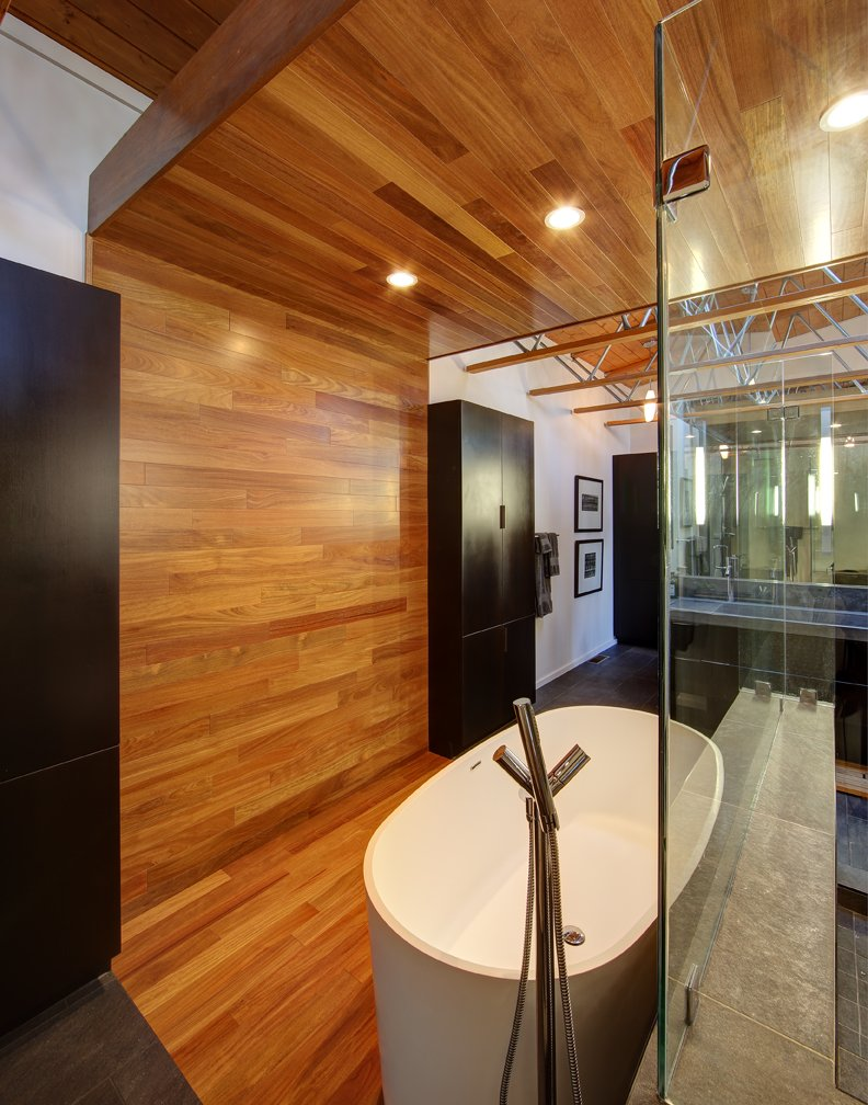 Wood & Glass Bathroom, Home Renovation in Madison, Wisconsin