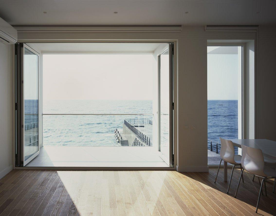 Balcony, patio Doors, Wood Flooring, Oceanfront Home in Crimea, Ukraine