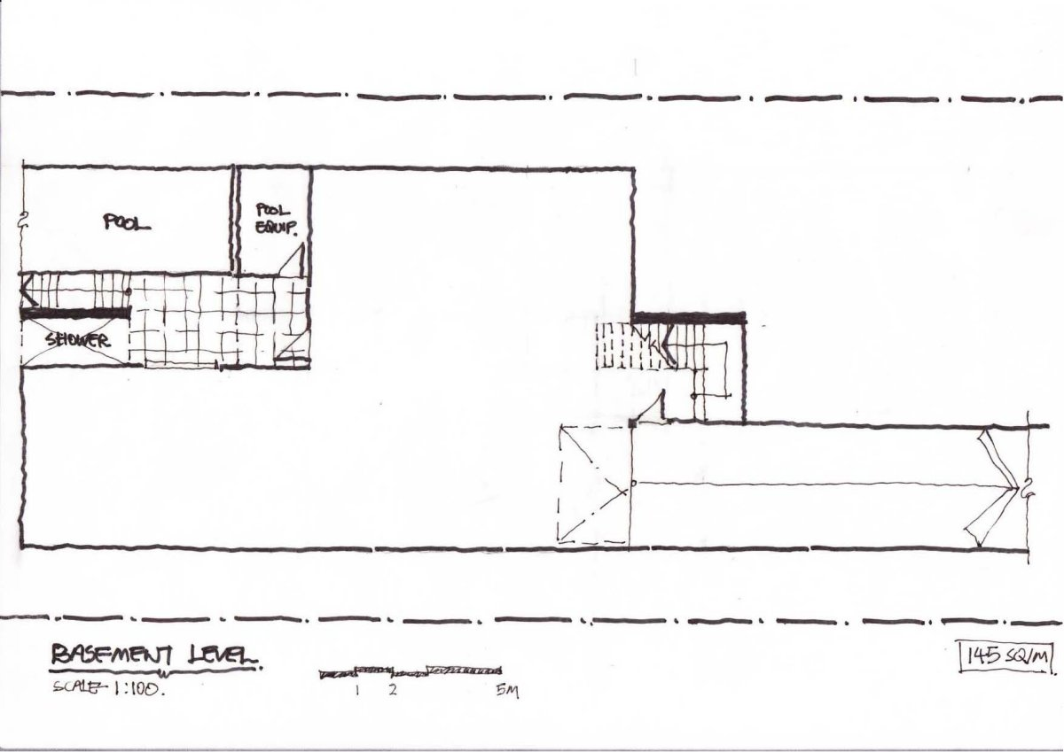Basement Floor Plan, Contemporary Home in Strathfield, Australia