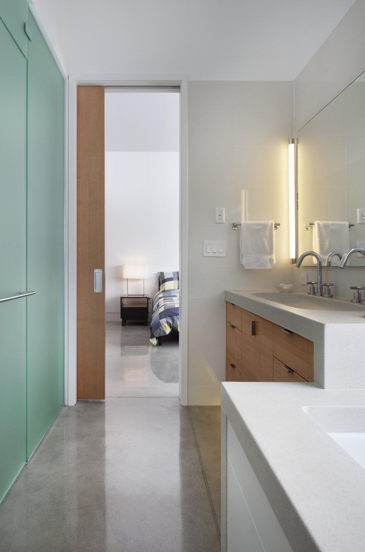 Bathroom, Contemporary Cabin in the Rocky Mountains