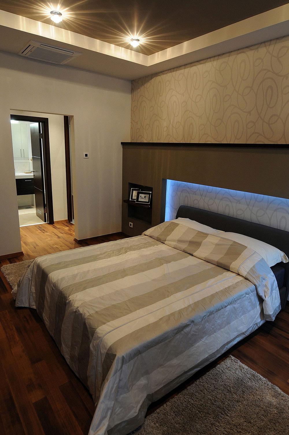 Bedroom Lighting, Penthouse in Belgrade, Serbia