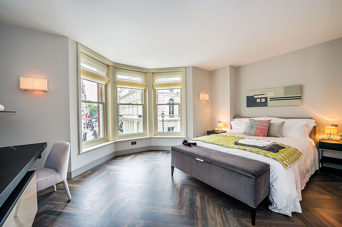 Bedroom, Penthouse Apartment in St James's, London