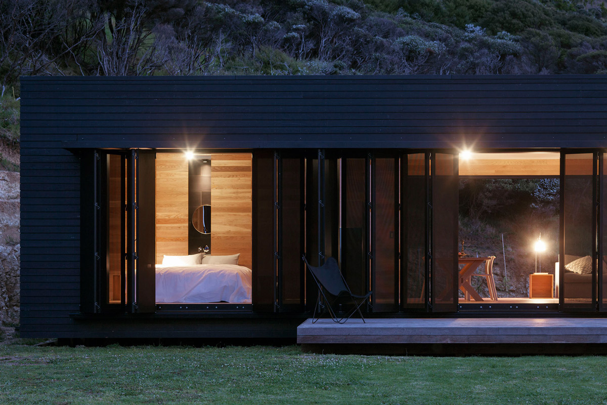 Bedroom, Shutters, Cottage on Great Barrier Island, New Zealand