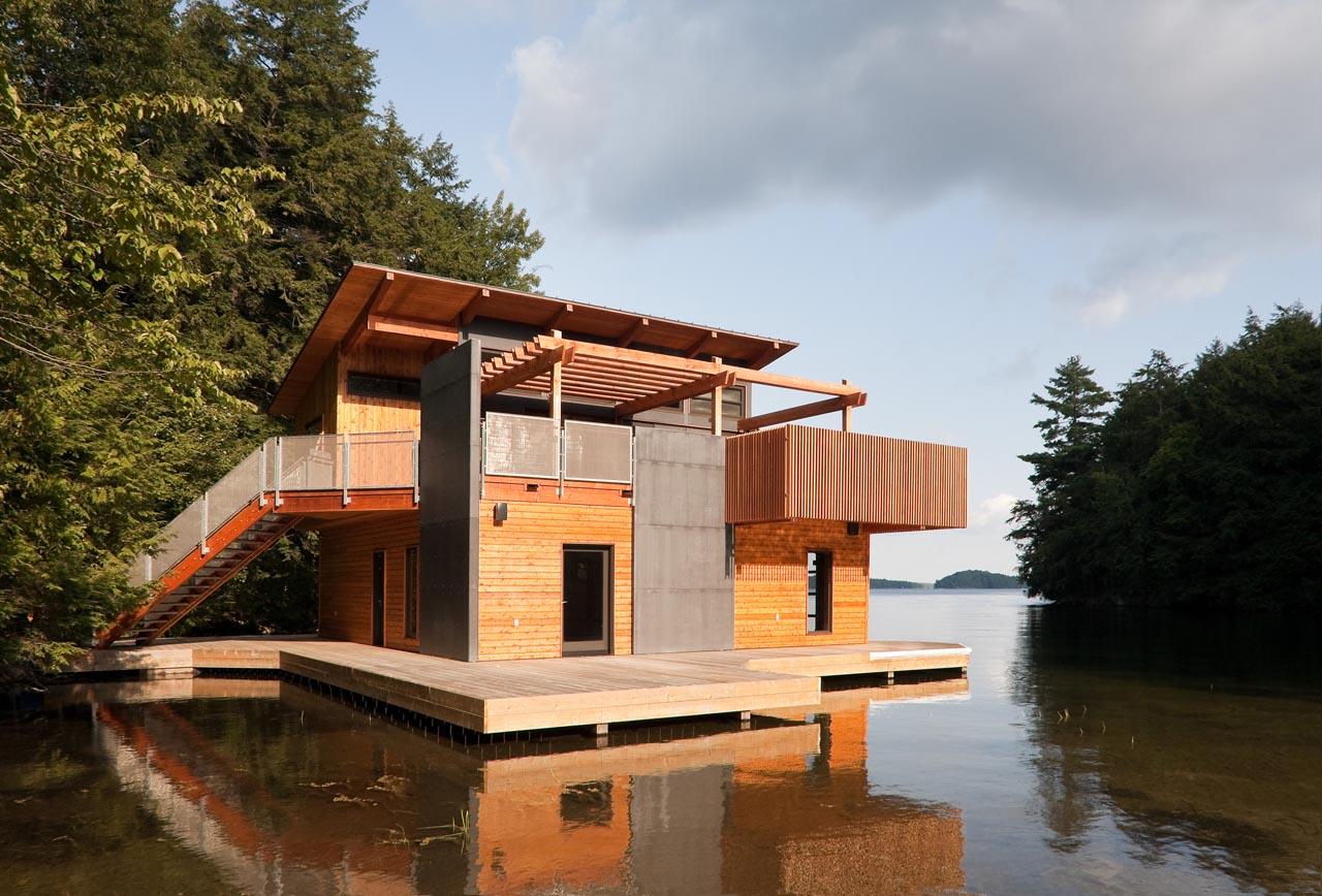 Boathouse Renovation and Extension in Muskoka Lakes, Ontario