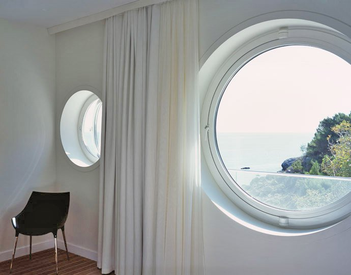 Circular Windows, Oceanfront Home in Crimea, Ukraine