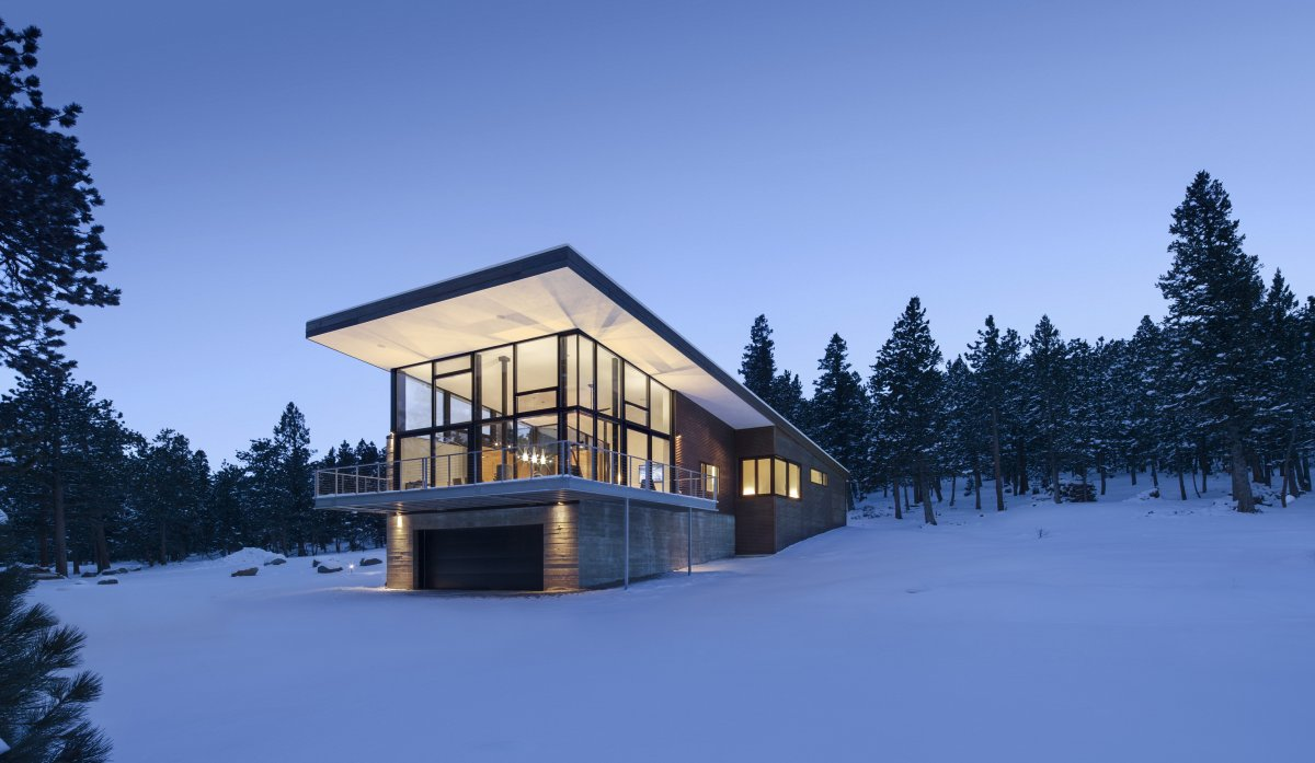 Contemporary cabin in the rocky mountains for The mountain house
