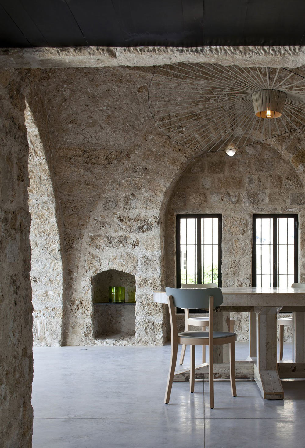 Dining Room, Contemporary Renovation in Old Jaffa, Tel Aviv
