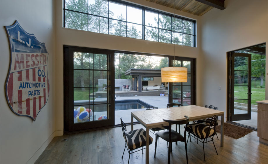 Dining Space, Modern and Rustic Home in Boulder, Colorado