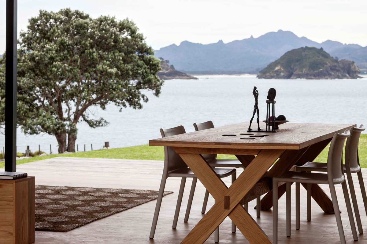 Dining Table, Terrace, Amazing Views, Cottage on Great Barrier Island, New Zealand