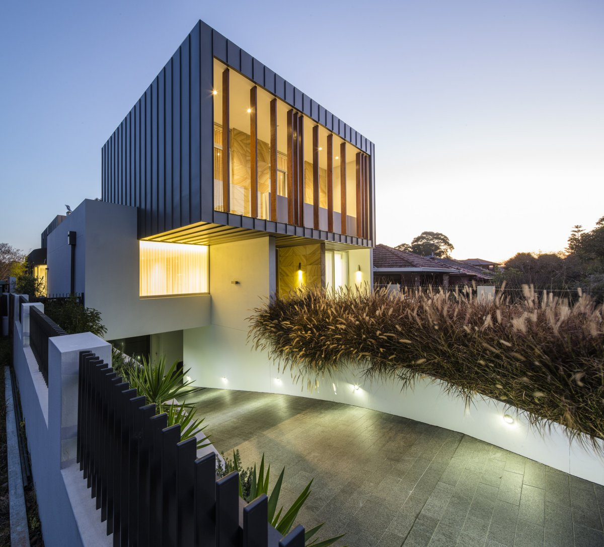 Driveway, Lighting, Contemporary Home in Strathfield, Australia