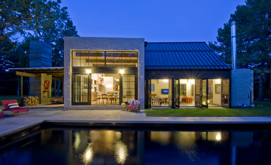 Dusk, Lighting, Modern and Rustic Home in Boulder, Colorado