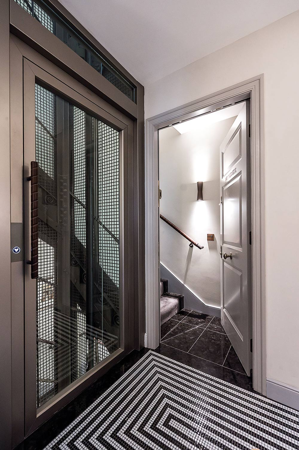 Elevator, Tiled Floor, Front Door, Penthouse Apartment in St James's, London