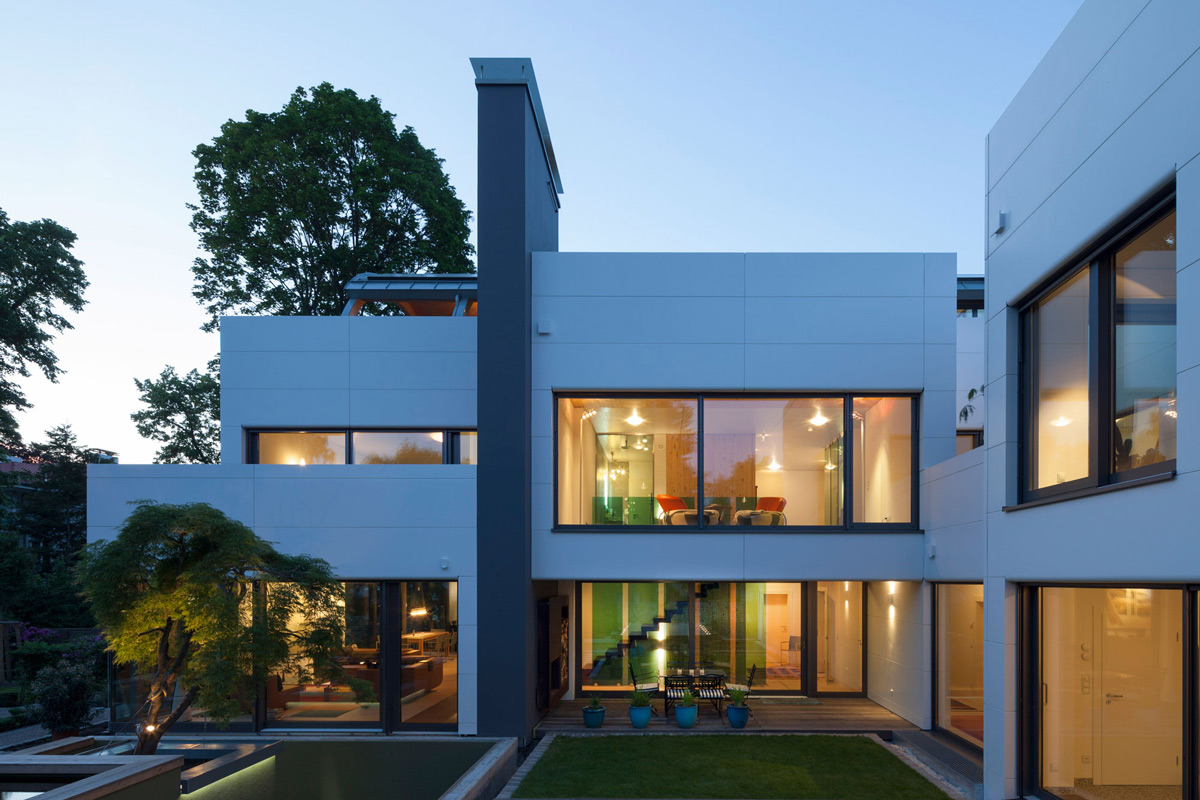 Evening, Lighting, Contemporary Home in Berlin, Germany