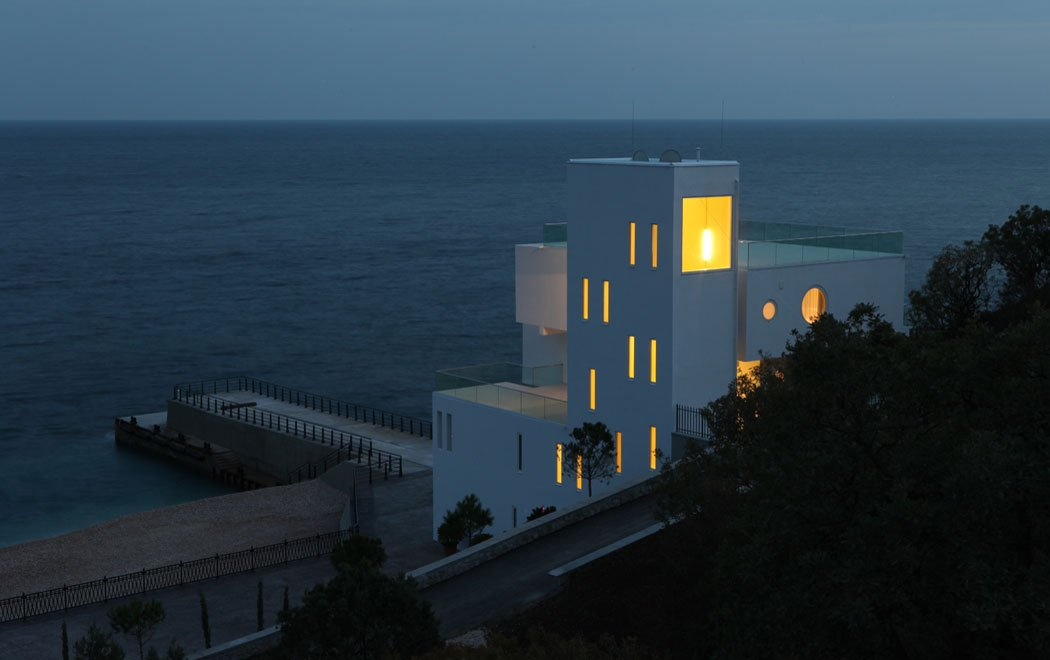 Evening Lighting, Oceanfront Home in Crimea, Ukraine
