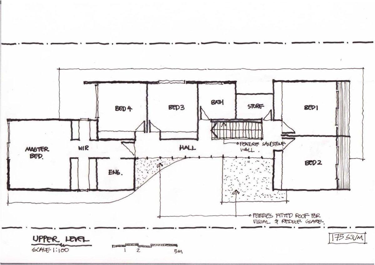 First Floor Plan, Contemporary Home in Strathfield, Australia