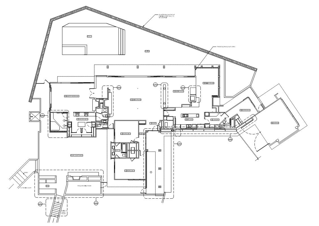 Floor Plan, Renovation of a Hal Levitt Home in Beverly Hills