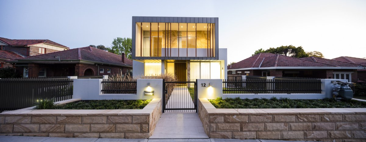 Gate, Pathway, Lighting, Contemporary Home in Strathfield, Australia