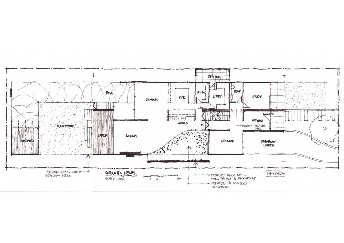 Ground Floor Plan, Contemporary Home in Strathfield, Australia