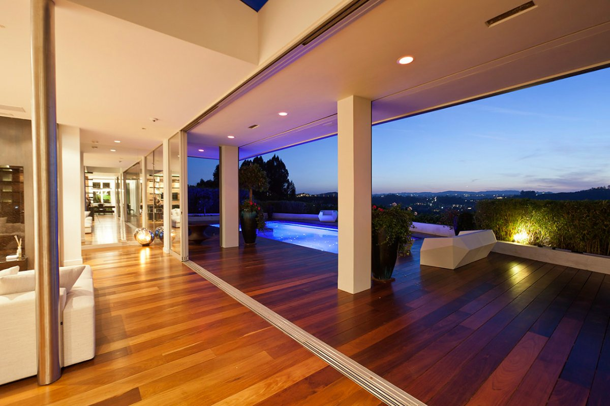 Indoor & Outdoor Living Space, Views, Renovation of a Hal Levitt Home in Beverly Hills