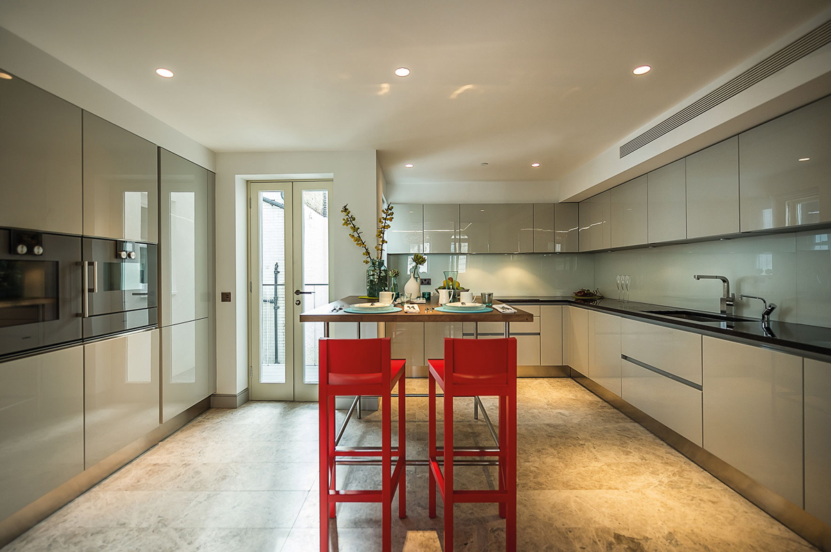 Kitchen, Breakfast Table, Penthouse Apartment in St James's, London