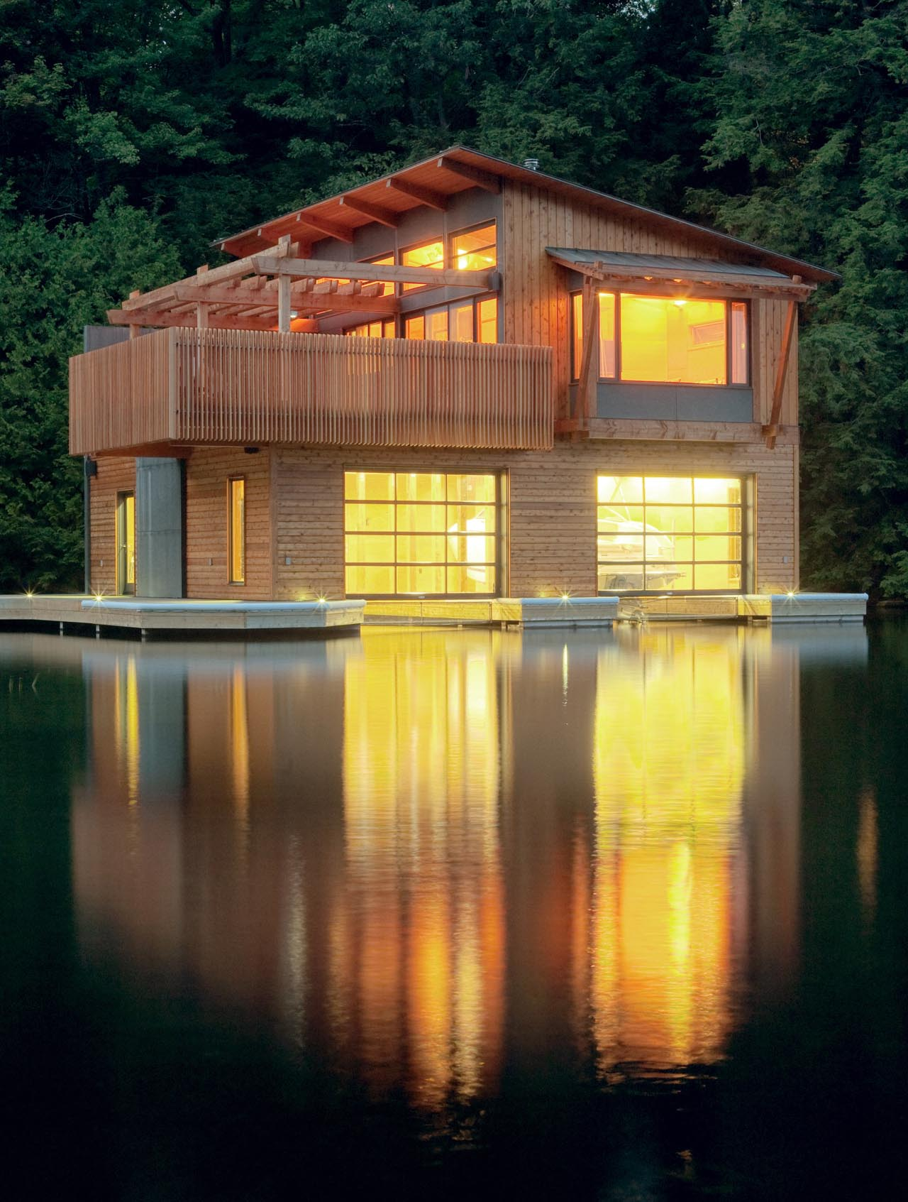 Lighting, Boathouse Renovation and Extension in Muskoka Lakes, Ontario