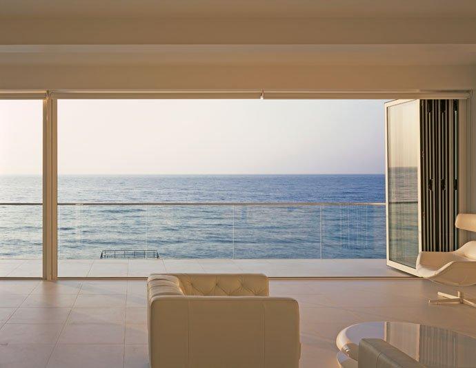 Living Room, Patio Doors, Sea Views, Oceanfront Home in Crimea, Ukraine