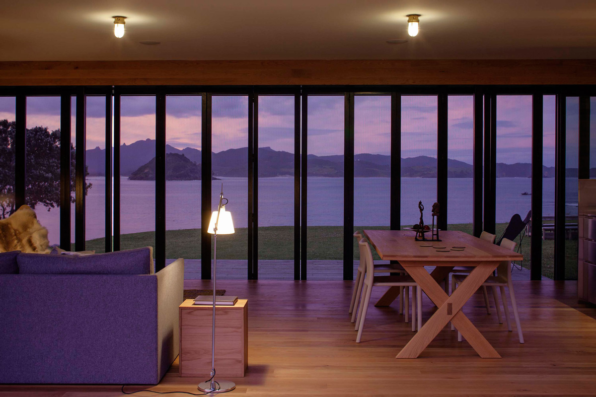 Open Plan Living, Dining, lighting, Views, Cottage on Great Barrier Island, New Zealand