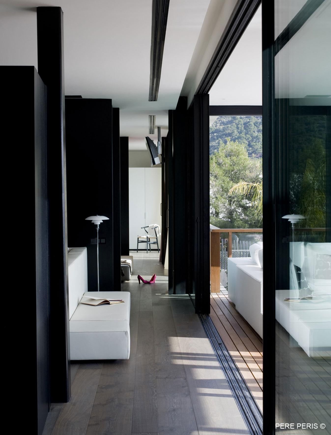 Patio Doors, Balcony, Stylish Glass Home in Valencia, Spain