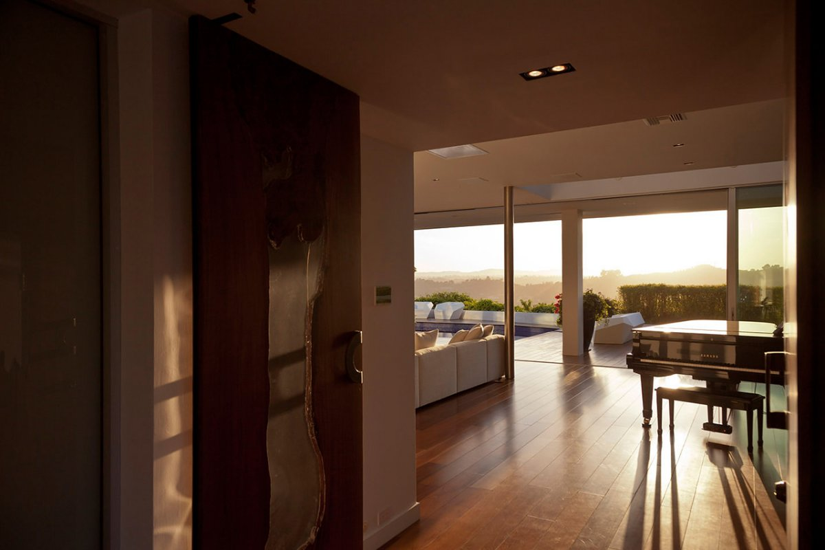 Piano, Living Space, Renovation of a Hal Levitt Home in Beverly Hills